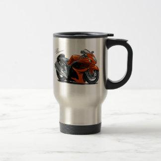 Hayabusa Orange Bike Stainless Steel Travel Mug