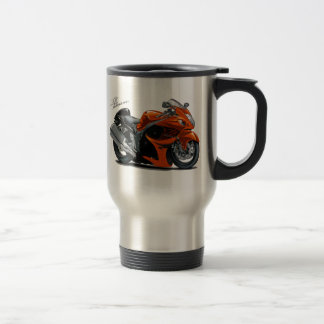 Hayabusa Orange Bike Travel Mug