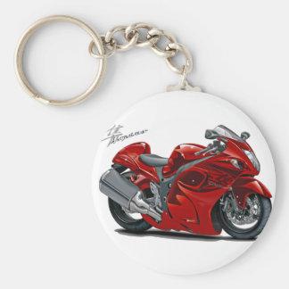 Hayabusa Red Bike Basic Round Button Key Ring