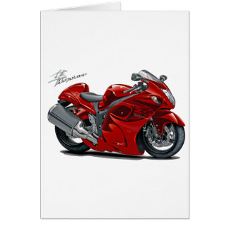 Hayabusa Red Bike Greeting Card