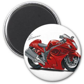 Hayabusa Red Bike Magnet