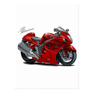 Hayabusa Red Bike Postcard