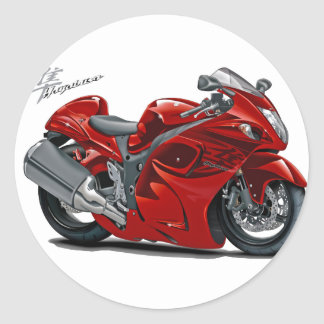 Hayabusa Red Bike Round Sticker