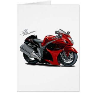 Hayabusa Red-Black Bike Greeting Card