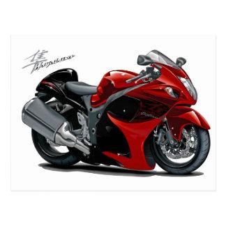 Hayabusa Red-Black Bike Postcard