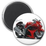 Hayabusa Red-Black Bike Refrigerator Magnet