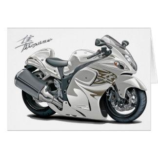 Hayabusa White Bike Card