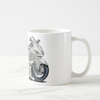 Hayabusa White Bike Coffee Mug