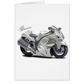 Hayabusa White Bike Greeting Card