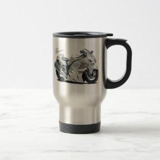 Hayabusa White Bike Coffee Mugs