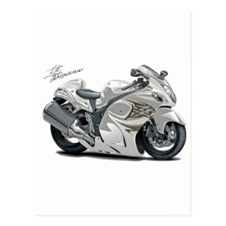 Hayabusa White Bike Postcard