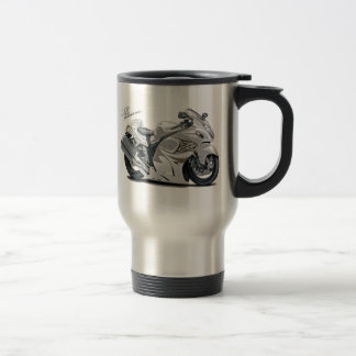 Hayabusa White Bike Travel Mug