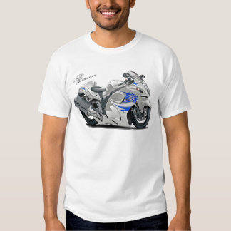Hayabusa White-Blue Bike T Shirts