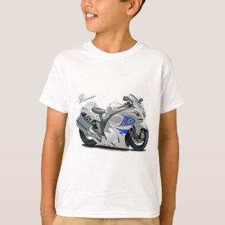 Hayabusa White-Blue Bike Tees