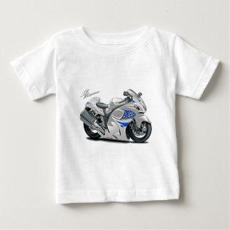 Hayabusa White-Blue Bike Tshirts