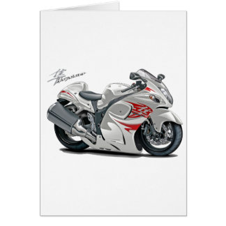 Hayabusa White-Red Bike Card