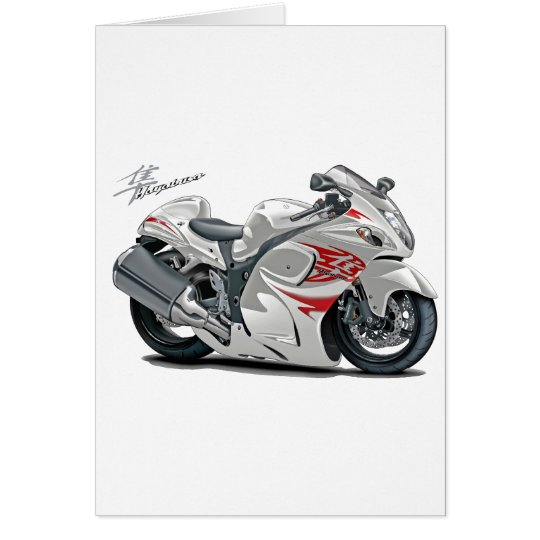 Hayabusa White-Red Bike Card