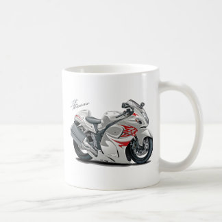 Hayabusa White-Red Bike Coffee Mug