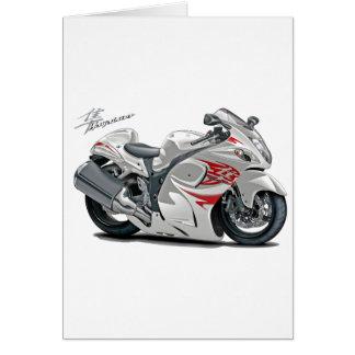 Hayabusa White-Red Bike Greeting Card