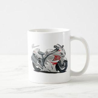 Hayabusa White-Red Bike Basic White Mug