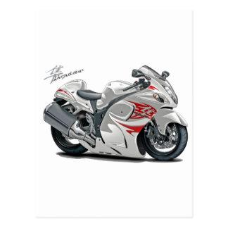 Hayabusa White-Red Bike Postcard