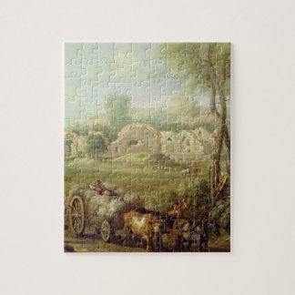 Haycart Passing a Ruined Abbey, c.1740-50 (oil on Puzzles