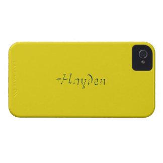 Hayden Full Yellow iPhone 4 case