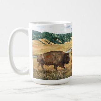 Hayden Valley Bison Yellowstone National Park Basic White Mug