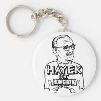 Hayek Is My Homeboy Keychain