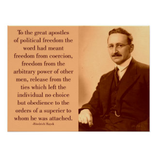 Hayek on freedom poster