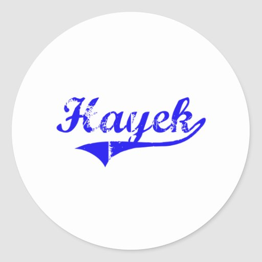 Hayek Surname Classic Style Round Stickers