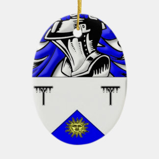 Hayhurst Coat of Arms Ceramic Oval Decoration