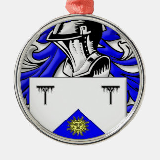 Hayhurst Coat of Arms Round Metal Christmas Ornament