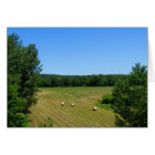 Haying in the valley rural MN farm landscape photo Card
