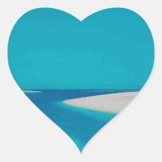 Hayle esturary. heart sticker