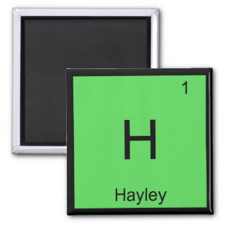 Hayley  Name Chemistry Element Periodic Table Magnet