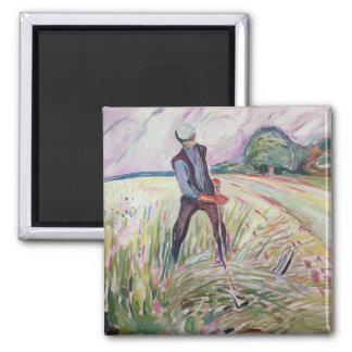 Haymaking Square Magnet
