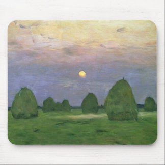Hayricks at Dusk, 1899 Mouse Mat