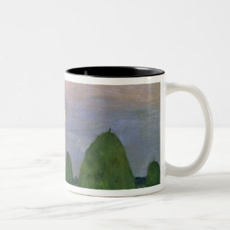 Hayricks at Dusk, 1899 Two-Tone Coffee Mug