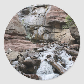 Hays Creek Waterfall Round Sticker