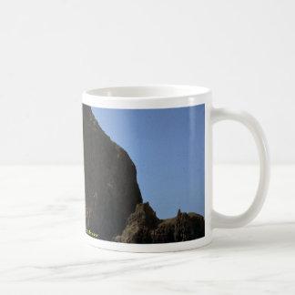"""Haystack"""", Oregon coast rock formation Mugs"""