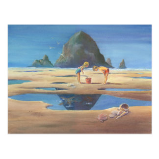 HAYSTACK ROCK 2 by SHARON SHARPE Postcard