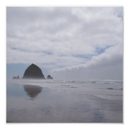 Haystack Rock Beach Poster