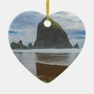 Haystack Rock, Cannon Beach, Oregon Christmas Ornament