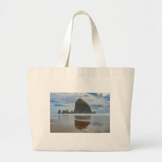 Haystack Rock, Cannon Beach, Oregon Jumbo Tote Bag