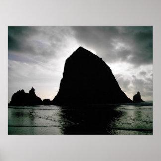 Haystack Rock--Cannon Beach, Oregon Poster