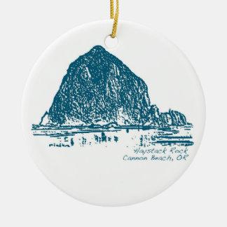 Haystack Rock Christmas Ornament