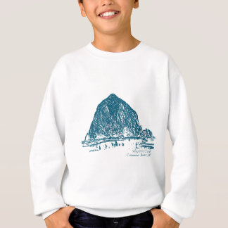 Haystack Rock Illustration Sweatshirt