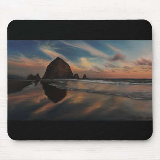 Haystack Rock Painting Mouse Mat