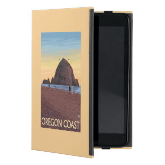 Haystack Rock Vintage Travel Poster iPad Mini Case
